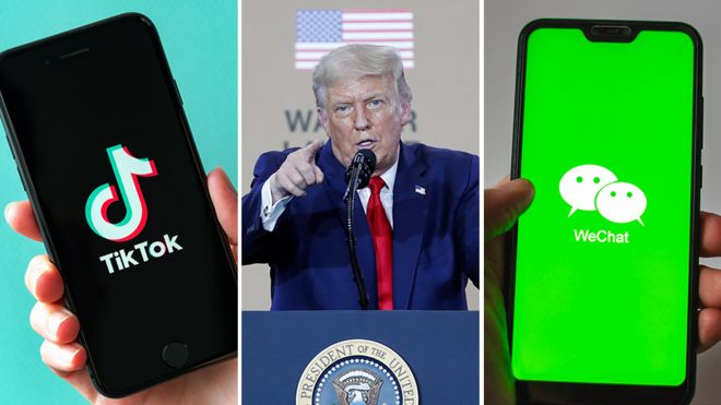 Trump issues orders banning TikTok and WeChat from operating in 45 days