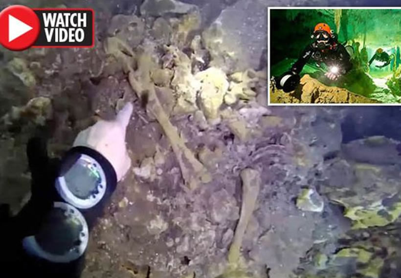 Huge 12,000-year-old underwater cave found with human skulls PERFECTLY intact