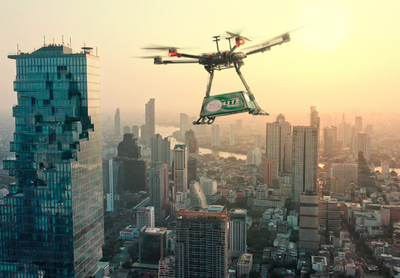 Thai pizza chain wants to deliver slices by drone