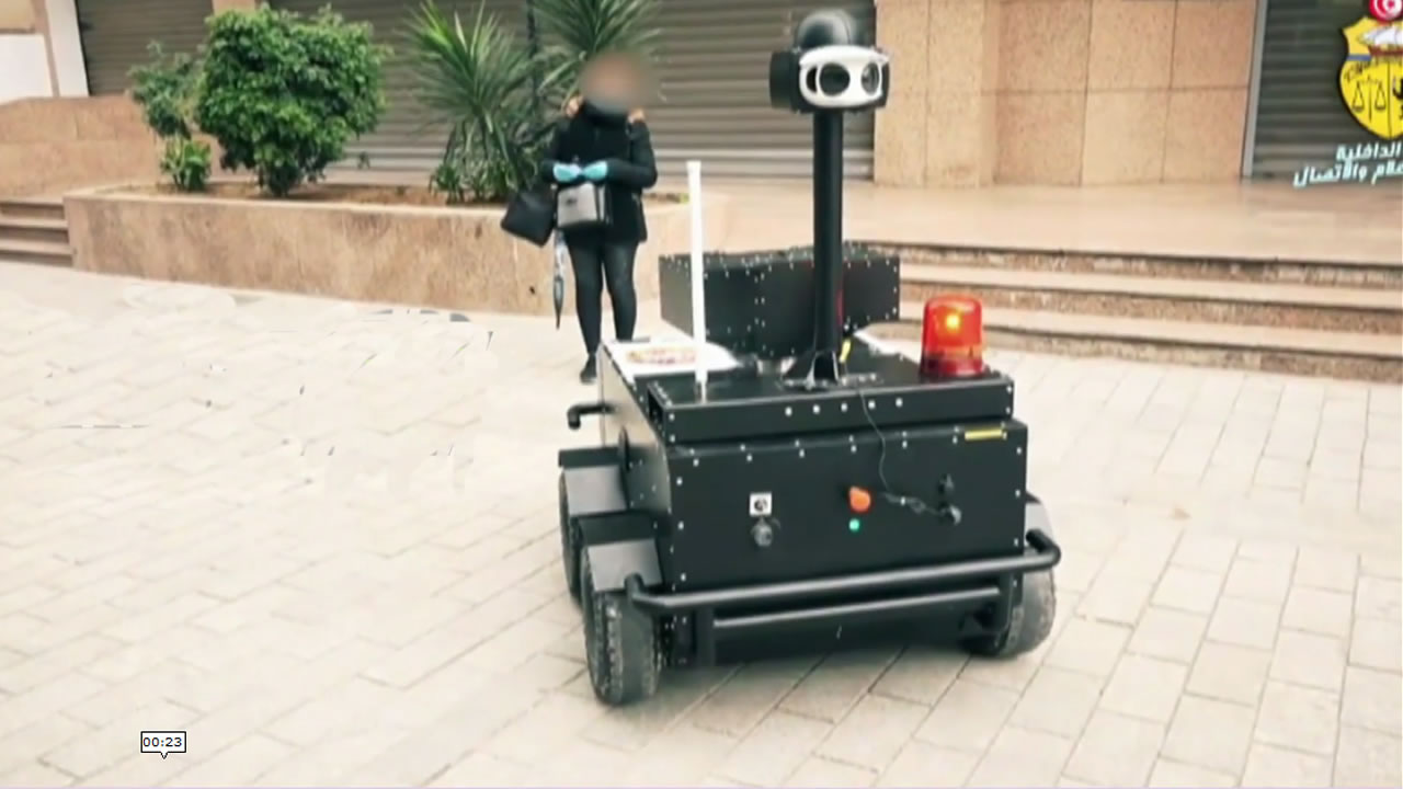 Tunisia Using Unmanned Robots to Enforce Lockdown during Coronavirus