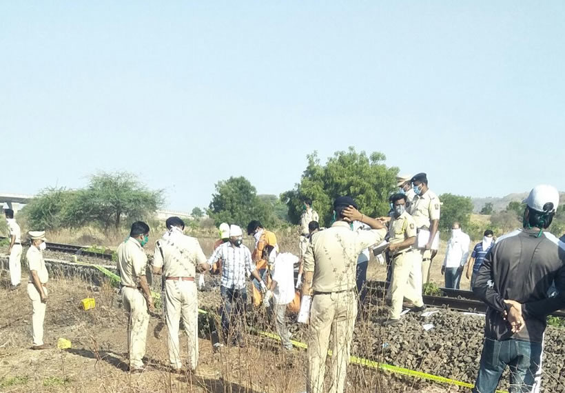 Train runs over migrant workers in Aurangabad 14 dead
